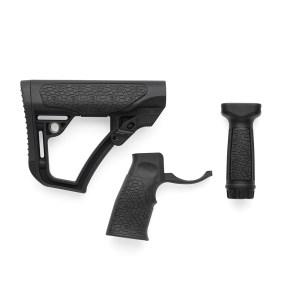 Daniel Defense Buttstock, Pistol Grip, & Vertical Foregrip Combo - Black