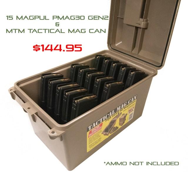 MTM Tactical Mag Can | Magpul MAG571 PMAG30 Gen2 | Combo Deal | western Sport