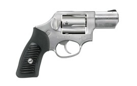 """Ruger SP101 Double-Action Revolver 357 Mag 2.25"""" Barrel Satin Stainless Finish Stainless Steel Black Rubber Grips Fixed Rear & Black Ramp Sight 5Rd"""