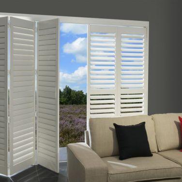 Basswood plantation shutters