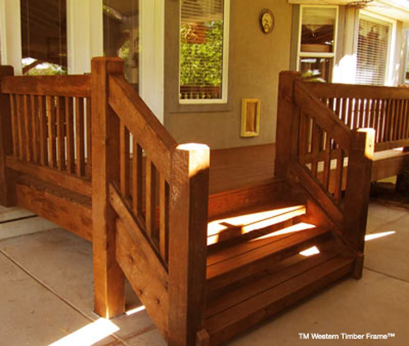 Timber Frame Deck Railing | Frameswalls org