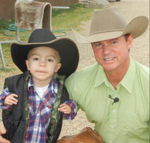 Kaleb with Chris Cox
