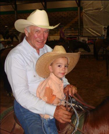 Kaleb with Larry Mahan