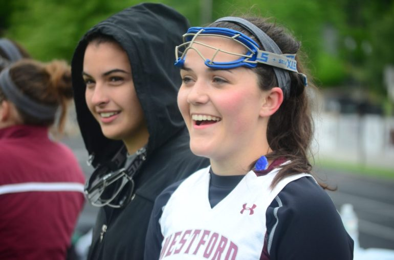Erica Matilla (right) was happy with the result on Tuesday.