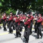 The Westford Academy marching band provided patriotic songs.