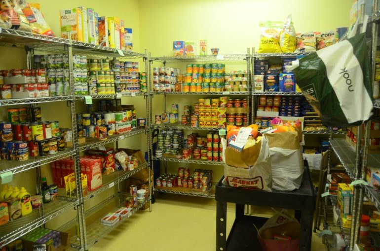 The food pantry is now fully stocked thanks in large part to a recent Lowell Sun article.
