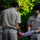 Local Boy Scouts from Troop 437 played a large role in the ceremony.