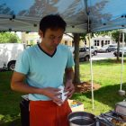 Amorn Phongtong of Siam Sunshine in Lowell is serving up some Thai food.