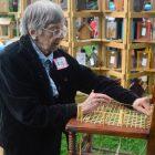 Carol Engel's making a chair.