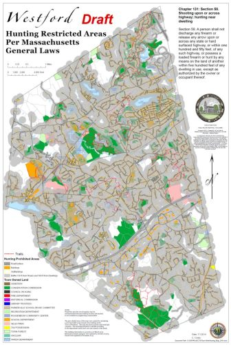 Pink areas are owned by the Selectmen (credit: Town of Westford)