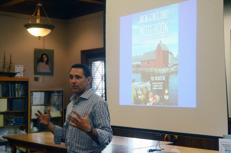 Ted Reinstein talks at the J.V. Fletcher Library.