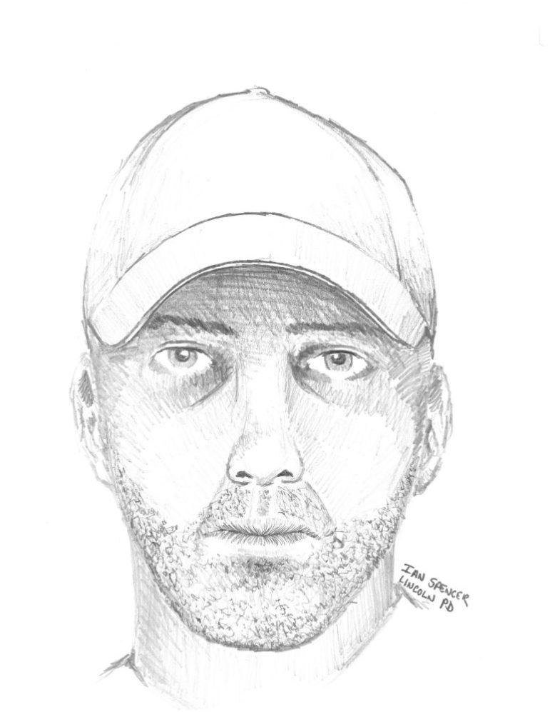 A Westford Police Department sketch of the Aug. 18 Blakes Hill Road suspect.