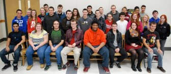 Adams Scholarship recipients from Nashoba Tech include, front row, from left, Shane Purgus (Chelmsford), Kayla Johnson (Townsend), Ryan Cooper (Shirley), Julian Morgan (Ayer), Diedrick Warrington (Pepperell), Jon Chevrette (Townsend), Amber Uzzell (Chelmsford) and Bradley Logan (Ayer); second row, from left, Curtis Tippett (Ayer), Lauren Kelley (Chelmsford), Derek Decesare (Shirley), Ryan Belanger (Chelmsford), Alexander Gianakos (Shirley), Nicholas Johansen (Townsend), Samantha Nigro (Chelmsford), Michael Geoffroy (Chelmsford), Meghan Donovan (Pepperell), Dale Flamburis (Westford) and Sariah Willard (Pepperell); and, back row, from left, Michaela Flanagan (Chelmsford), Brianna White (Shirley), Dominic Sears (Pepperell), Matthew Donahue (Townsend), Christina Perini (Harvard), Bilal Sayed (Methuen), Thomas Greenwood (Westford), Kenneth Howell (Shirley), Kalee Chapman (Townsend), Wilbannelys Ramos (Lowell), Gabriel Carvalho (Lowell) and Bradley Gilbert (Pepperell). Missing from photo are Lexis Bushnoe (Townsend), Steven Collins (Pepperell), Darren Gentile (Groton), Shannon Harrison-Fisher (Pepperell), Kevin Lewis (Ayer), Kendra Malone (Chelmsford), Jared Paiva (Townsend), Julianna Poutry (Ayer), Jake Powers (Chelmsford), Dochug Thoummavong (Shirley), Jakob Vandal (Shirley), Daniel Whiting (Chelmsford) and Zachary Whittemore (Townsend).