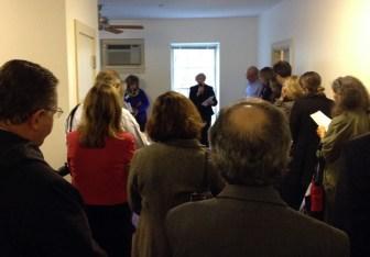 """""""Senator Eileen Donoghue speaks at the Open House for Veterans' Housing"""" (courtesy Cori Ryan)"""