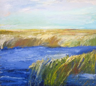 Essex River Marsh III  Oil on Canvas (by Ronald Hubbard)