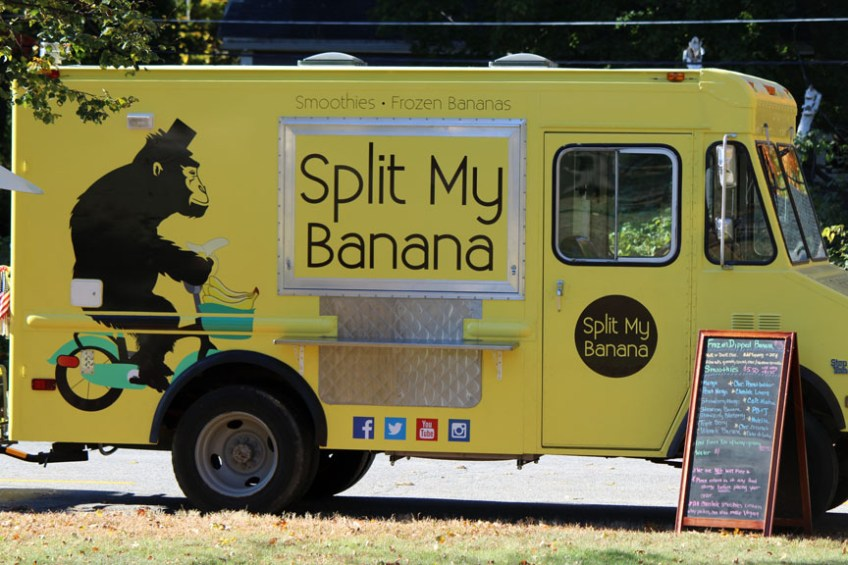 Split My Banana of Leominster was on hand with frozen treats (credit - Sarah Fletcher)
