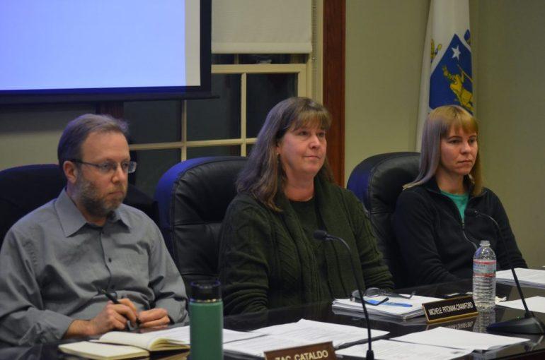 (l to r) Zac Cataldo, Michele Pitoniak-Crawford and Jill Lokere of the Board of Health on Feb. 22, 2016
