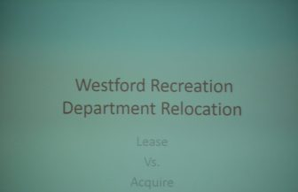 The title slide from the Feb. 9 Recreation Department presentation