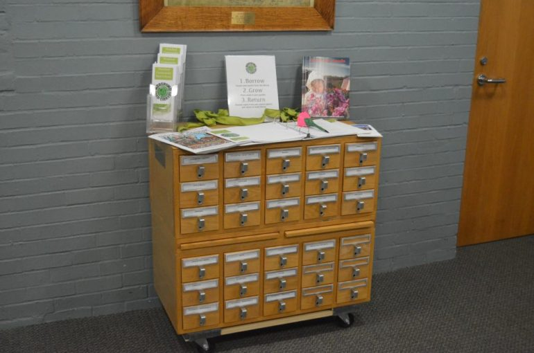 The new seed library in the basement of the J.V. Fletcher Library.
