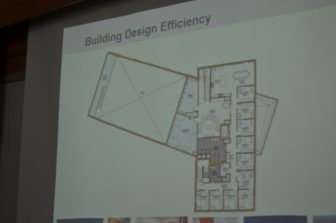 """The North Andover station """"loft"""" schematic, utilizing a limited amount of space."""