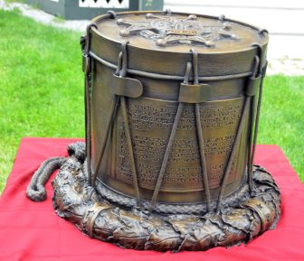Christiana's replica of a drum used by Westford minutemen in 1775.