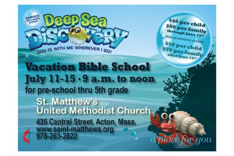 (UGC) 20May16 Acton Church Deep Sea Discovery 20May16