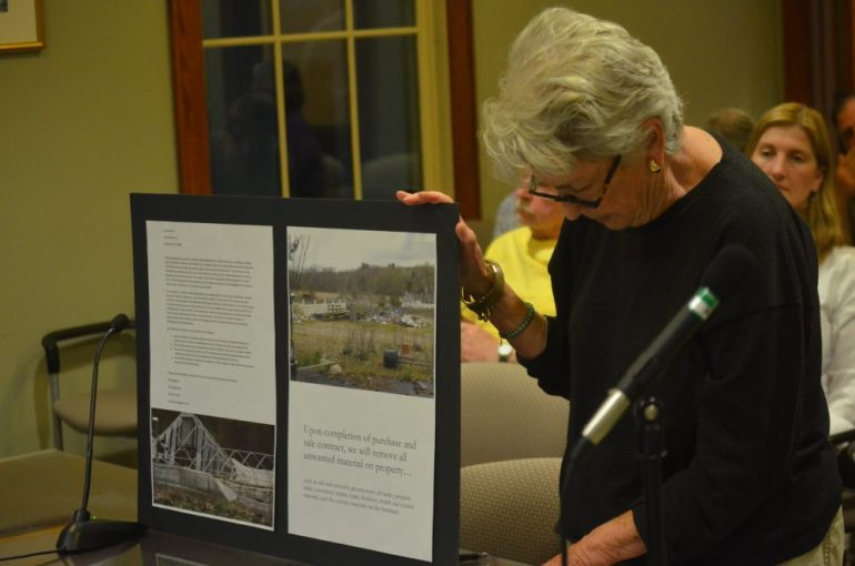 A presentation to the Selectmen by Maureen George.