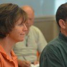 """Elizabeth Almeida (left) and """"Farmer"""" Dave Dumaresq."""