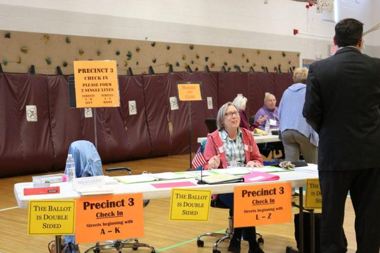A voter checks in at Precinct 3. PHOTO BY JOYCE PELLINO CRANE