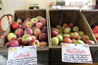 Apples are available inside the Hill Orchard farm stand. PHOTO BY JOYCE PELLINO CRANE