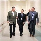 Pictured are Middlesex Sheriff Peter J. Koutoujian, state Rep. James Arciero and state Rep. John Law, chairman of the Joint Committee on Veterans and Federal Affairs. COURTESY PHOTO