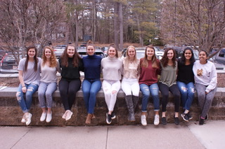 Apple Blossom queen candidates, from left, Emily Bramanti, Erin Underhill, Olivia Hillman, Elizabeth Arnold, Emily Doolan, Brianna Langlois, Taylor Pacifico, Hannah Keefe, Prachi Jhawar and Medha Palnati.