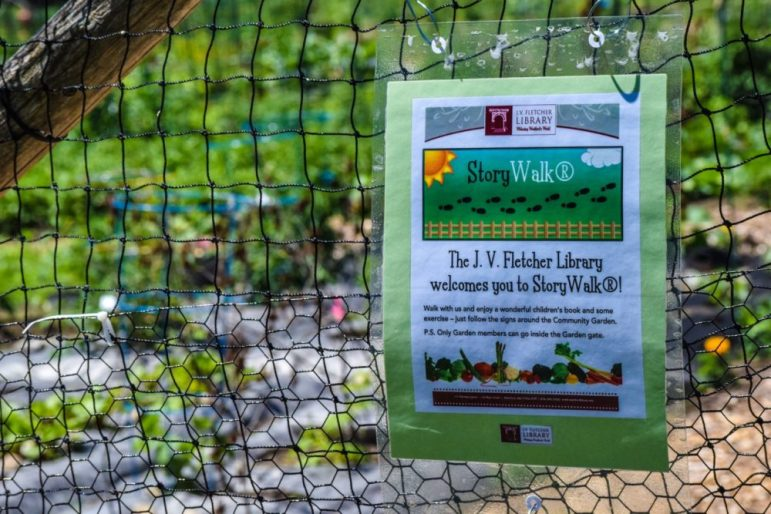 The Story Walk Project at Community Gardens in Westford. PHOTO BY ANTHONY CAMALLERI