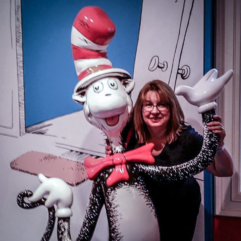 Lisa Arrigo at the Dr. Seuss Museum in Springfield. COURTESY PHOTO