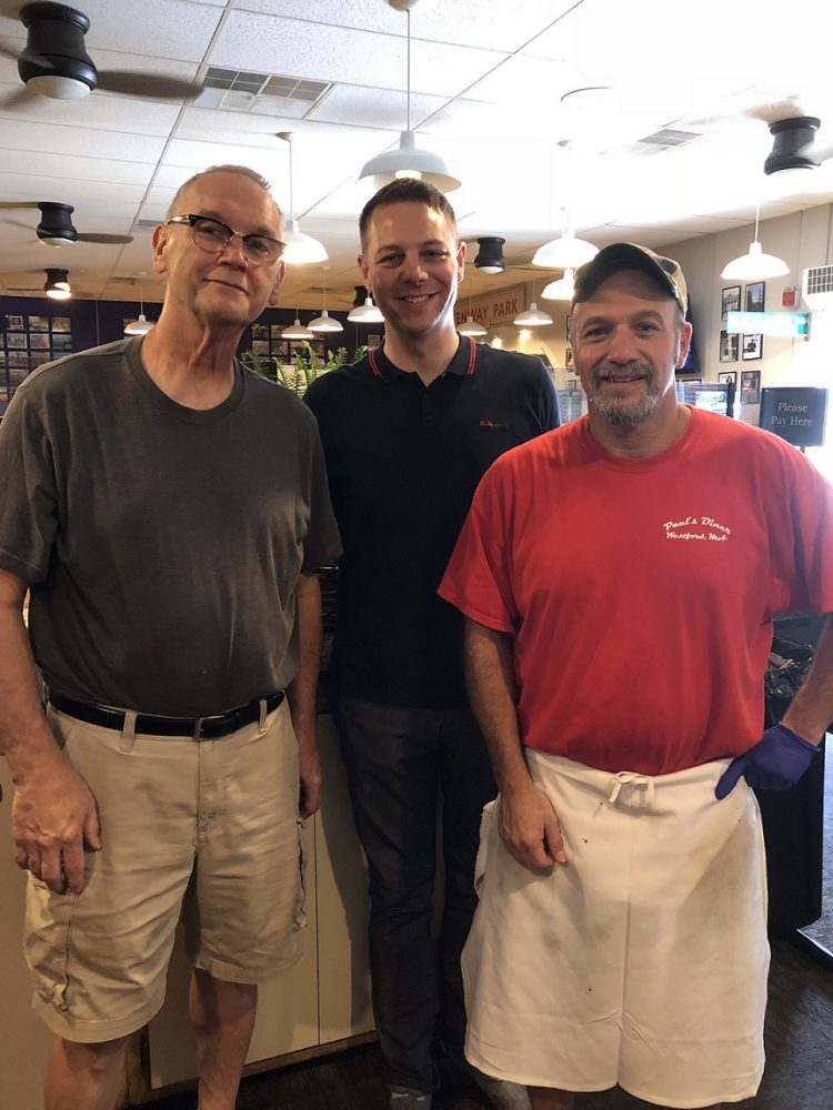 Pictured from left are, Paul Doty, state Rep. JamesArciero, and Sal Buonacore during the recent transition.