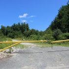 The entrance to Merrill's Quarry on Tyngsborough Road. PHOTO BY JOYCE PELLINO CRANE