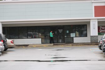 An empty storefront at the Westford Valley Marketplace. PHOTO BY JOYCE PELLINO CRANE