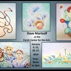 David Martsolf highlights his sketch lines in his current work. COURTESY PHOTO