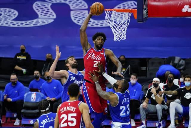 NBA capsules: Tobias Harris' shot in final seconds leads 76ers past Lakers 107-106