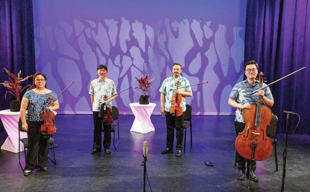 Spring in our Step: The Galliard String Quartet takes to Kahilu stage