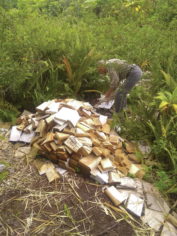 Turn the page: Old books make for good garden mulch