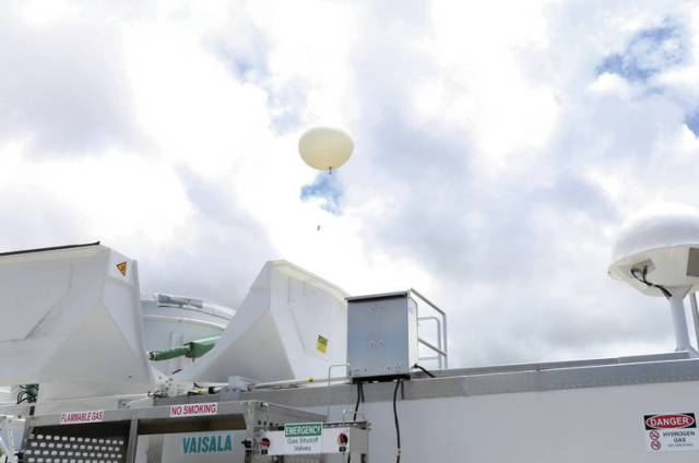 Machine auto launches weather balloons twice daily from Hilo