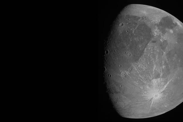 Spacecraft buzzes Jupiter's mega moon, 1st close-up in years