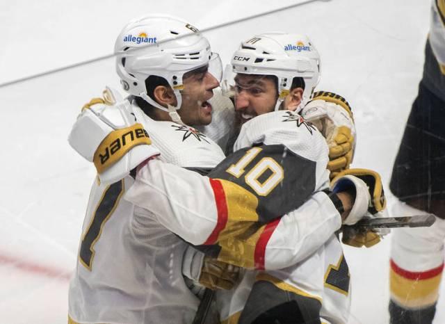 Roy scores 1:18 into OT, Vegas-Montreal series tied 2-2