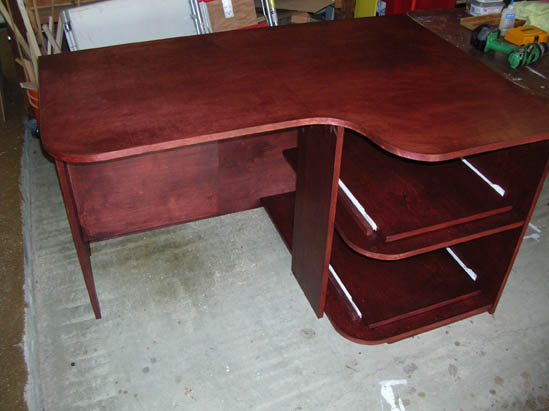 birch plywood desk plans