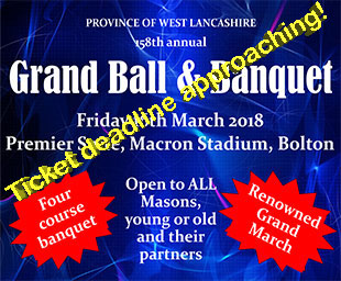 Last call for Grand Ball and Banquet
