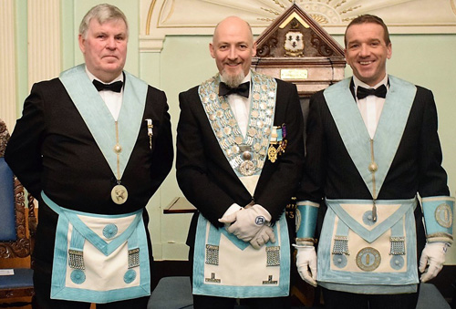 Pictured from left to right, are: SW Steve Lee, Steve Dovaston and JW Tom Kelly.