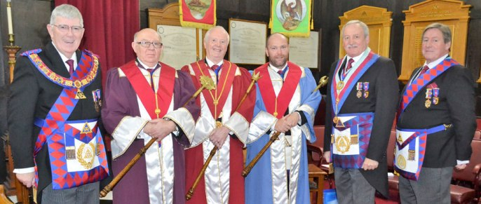 Pictured from left to right, are: Tony Harrison, Allan Finney, Raymond Griffiths, Carl Horrax, Sam Robinson and Neil McGill.