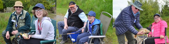 It's great to see the sheer enjoyment expressed by the youngsters whilst taking part in the fishing, which for many was their first experience of it.