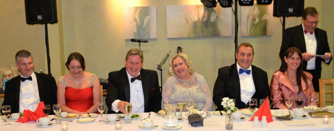 Pictured from left to right, are: Chris and Clare Larder, Neil and Lorraine McGill, Scott and Karen Devine and Nigel Parrish.